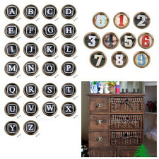 Retro Cabinet Door Drawer Dresser Handle Pull Knob Letters & Numbers Pattern