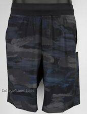 "NEW LULULEMON T.H.E. Short 9"" Linerless S Cactus Camo Deep Coal Black Teal NWT"