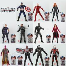 Civil War Captain America Iron Man Winter Soldier Ant-Man Hawkeye PVC Figure WB