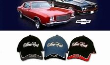 MONTE CARLO HAT/CAP CHOOSE BLACK,BLUE,RED CHEVY BOWTIE EMBROIDERED NEW