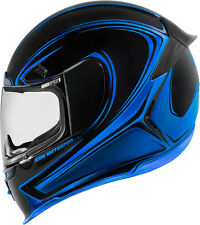 Icon Blue Airframe Pro Halo Composite Fiber Full Face Motorcycle Street Helmet