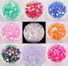 Wholesale 200pcs AB Color Heart Shaped Acrylic Spacer Beads Making 4*8mm