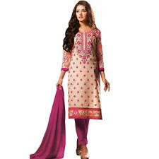 Designer Elegant Embroidery Cotton Salwar Kameez Readymade India-Venee-HR-2502-B