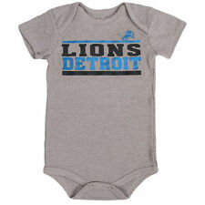Detroit Lions Newborn Stacked Fan Bodysuit - Gray - NFL