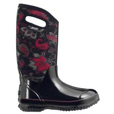 LADIES BOGS CLASSIC PAISLEY TALL BLACK INSULATED WARM WELLINGTON BOOT 72031