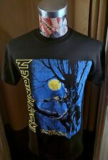 NEW IRON MAIDEN FEAR OF THE DARK MULTICOLOR MOON TREE HEAVY METAL BLACK T SHIRT
