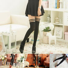 Sheer Mock Suspender Tights Pantyhose Stockings Black Sexy Women Girl Temptation