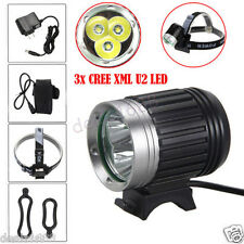 10000LM 3x CREE XML U2 LED Head Bicycle Bike HeadLight Lamp Light Headlamp Torch