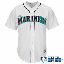 Seattle Mariners Majestic Official Cool Base Jersey - White - MLB