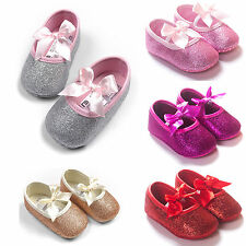 Infant Baby Girl Soft Sole Prewalker Kid Children Cute Crib Shoes Newborn 0-18M
