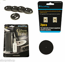 TechPlay Turntable Essentials, 2 pack of Diamond Tipped Upgrade Needles New