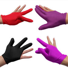 Utility Nylon Indoor Billiard Snooker Pool Table Cue Shooters 3 Finger Gloves