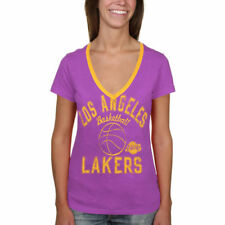 Los Angeles Lakers Women's Back Court Current Day Logo T-Shirt - Purple - NBA