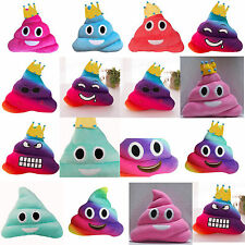New Amusing Emoji Emoticon Bed Cushion Heart Eyes Poo Shape Pillow Doll Toy Gift