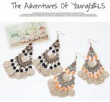 Ethnic Style Retro Hollow Earrings Fashion Water Droplets Bohemia Hook