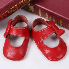 Leather Toddler Baby Girls Bow Crib Shoes Newborn Prewalker Soft Sole Sneakers