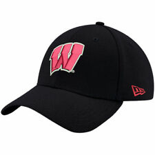 Wisconsin Badgers New Era Relaxed 49FORTY Fitted Hat - Black - NCAA