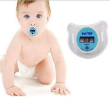 LCD Digital Temperature Nipple Pacifier Thermometer For Baby Infants Easy to Use