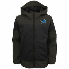 Detroit Lions Youth Lightweight All Element Full-Zip Hooded Jacket - Black - NFL