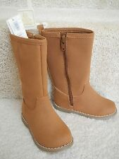 GAP KIDS GIRL SUEDE LEATHER BROWN ZIPPERED BOOTS SHOES Tod 6 Youth 2 NWT $50