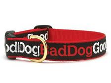 Dog Puppy Design Collar - Up Country - Made In USA - Good Dog Bad Dog - Any Size