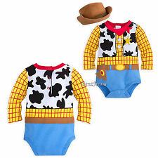 Toy Story Cowboy Woody Costume Bodysuit & Hat for Baby Disney Store 0-24M NEW