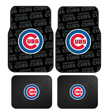 New Set MLB Chicago Cubs Car Truck Front / Back All Weather Rubber Floor Mats