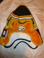 NEW 2015 PITTSBURGH STEELERS TRAPPER TEAM BEANIE KNIT FLAP CAP HAT VERY RARE!