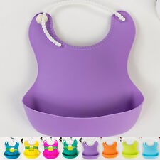 Aprons Infant Waterproof Silicone Baby Feeding Lunch Bibs Saliva Unisex Kids New