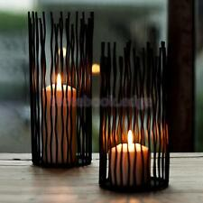 Black Metal Wedding Church Candlestick Tea Night Candle Holder Table Decorations