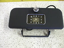 1937 Chevy glove box with hinges-clock and lock with key VERY NICE L@@@K