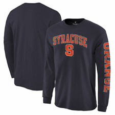 Syracuse Orange Distressed Arch Over Logo Long Sleeve Hit T-Shirt - Navy - NCAA