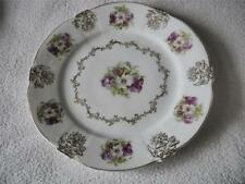 Z. S. & Co. BAVARIA PLATE HAND PAINTED VIOLETS AND GOLD TRIM