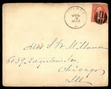 1898 Single Franked 2 Cent Washington Cover To Chicago Il