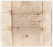 Utica Mills MD 1853 Manuscript DPO Stampless Cover & Letter