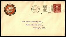 Cincinnati Ohio 1908 British American Co Advertising cover to Chicago