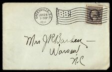 Greenville Sc Jun 24 1918 Single Franked Flag Cancel On Cover To Warsaw Nc