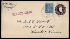 Oriental Nc Jan 7 1945 Air Mail Cover To Milwaukee Wisconsin