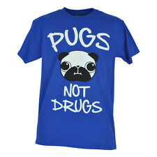 Pugs Not Drugs Say No To Drugs Novelty Brand Tshirt Funny Tee Mens Adult Shirt