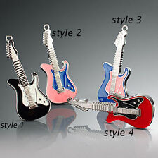 4-32GB Metal Rock Guitar Model USB 2.0 Flash Memory Stick Pen Drive U Disk thumb