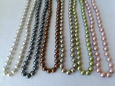 10mm variations color round genuine south sea mother of pearl shell necklace