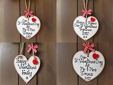 Personalised Valentines Wooden Heart Plaque Wife Girlfriend Husband 1st Gift