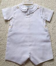 Boy FELTMAN BROTHERS boutique outfit 3M 6M 9M NWT white Christening Wedding suit