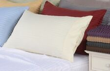 Bed Sheet Set 100% Organic Cotton Stripped 600 Thread Count Sheets Deep Pocket