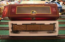 MTH 20-98211 CSX PREMIER CENTER I BEAM FLAT CAR w/LUMBER LOAD