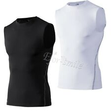 Men Vest Shirt Sportswear Armour Compression Base layer Sleeveless for Fitness