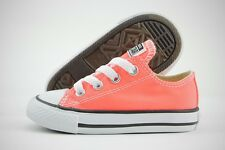 Converse Chuck Taylor All Star OX 755736F Hyper Orange Canvas Shoes Toddler