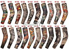 Unisex 20PCS Lot Mix Fake Temporary Tattoo Sleeves Slip On Arm Stockings Cosplay