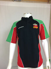 Wales Supporters Rugby Jersey Black/Red/Emerald/ M-2XL