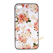 Pink Rose Floral Pattern Flower Hard Back Case Cover for Apple iPhone 4 4S 5 5S